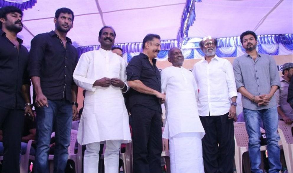 Rajinikanth,Kamal,Vijay,Suriya,Vishal,Sivakarthikeyan,Dhanush,Nadigar Sangam protest,Cauvery row,Kamal Haasan