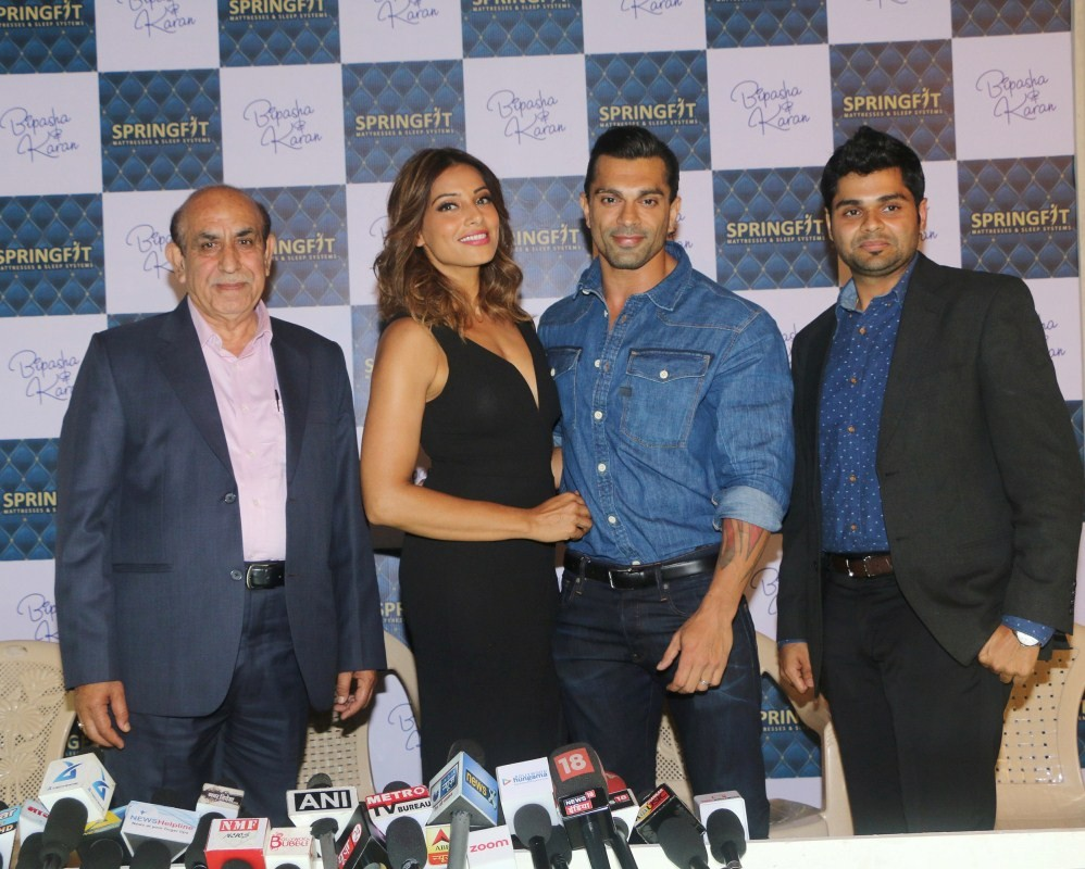 Bipasha Basu,Karan Singh Grover,Nitin Gupta,SK Malhotra,Springfit Mattresses Autograph Collection,Springfit Mattresses Autograph Collection launch,Springfit Mattresses Autograph Collection launch pics,Springfit Mattresses Autograph Collection launch image