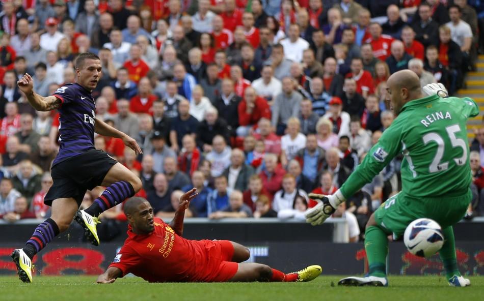 Arsenal End Goal Drought, Beat Liverpool [PHOTOS ...  |Liverpool- Arsenal