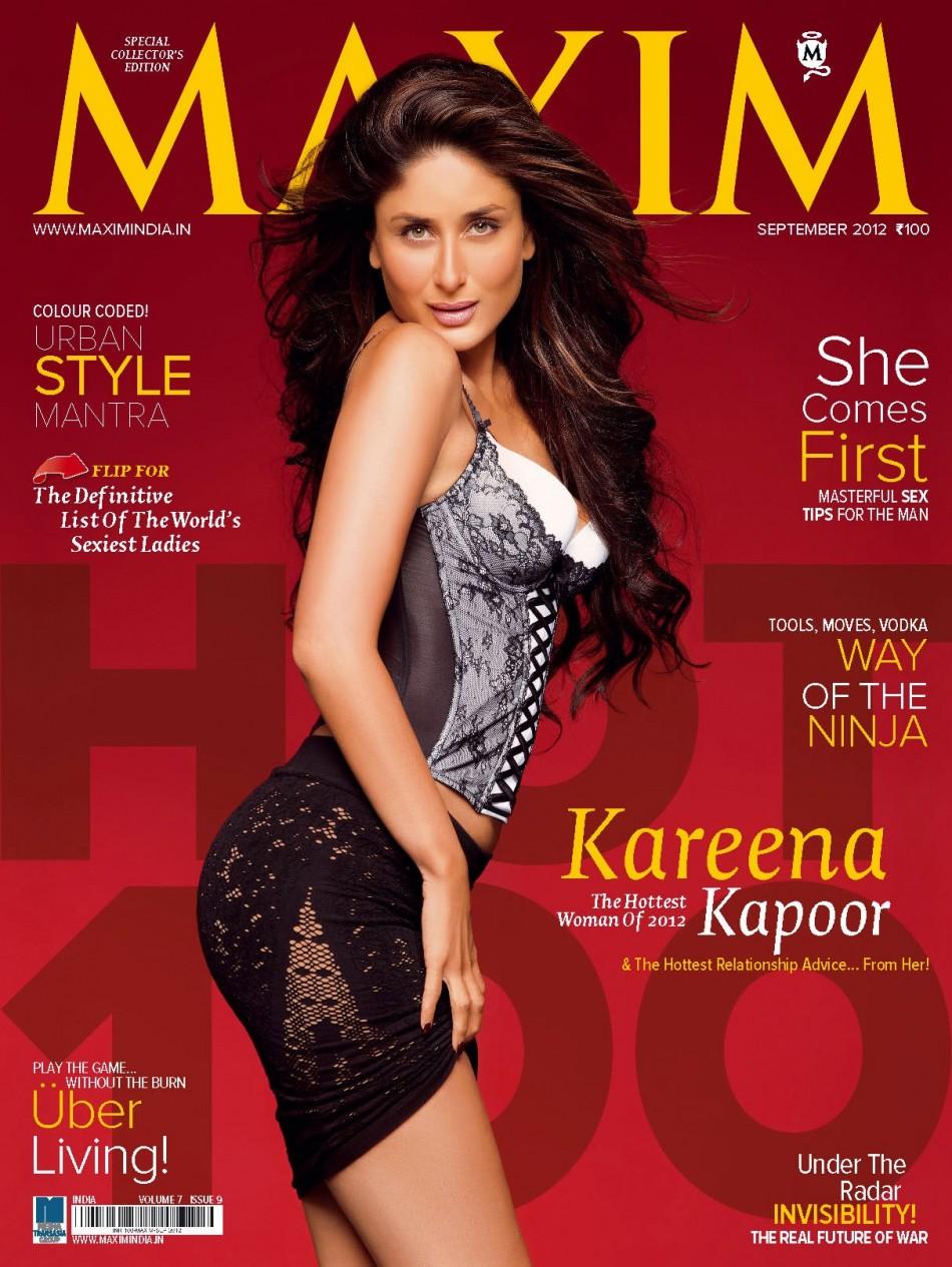 kareena kapoor is world's hottest woman 2012; adorns maxim india