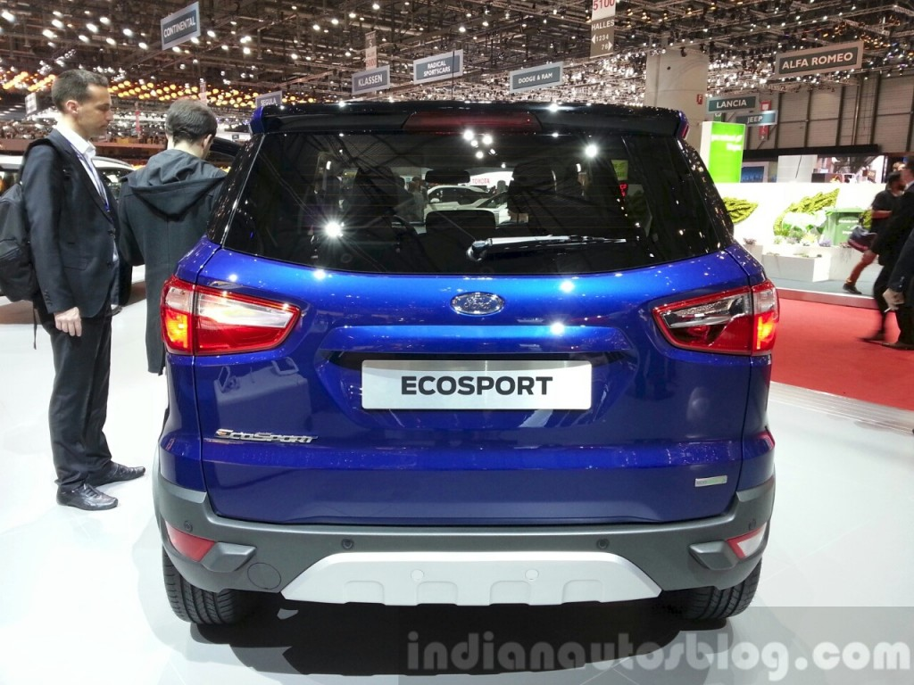 2015 geneva motor show ford ecosport facelift takes stage without tailgate spare wheel photos. Black Bedroom Furniture Sets. Home Design Ideas