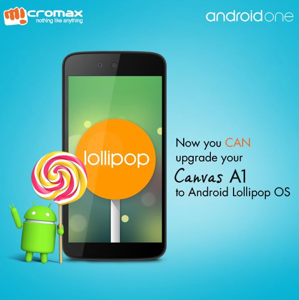 Android 5.1 Lollipop Released To Micromax Canvas A1, Spice