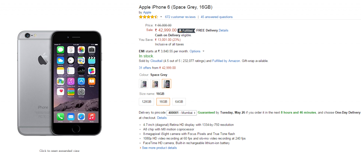 Iphone S Gb Price Amazon