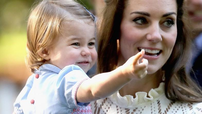 Walking and talking: Princess Charlotte makes the most of appearance with brother George