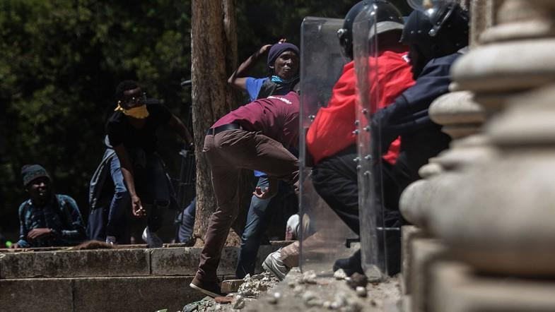 Police and students clash again over free education in South Africa