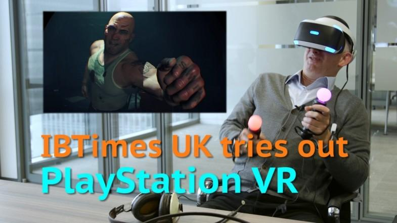 Watch IBTimes UK try out PlayStation VR with Battlezone, Batman and more