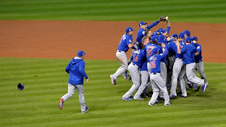 Cubs break the 'Curse of the Billy Goat' by beating the Cleveland Indians
