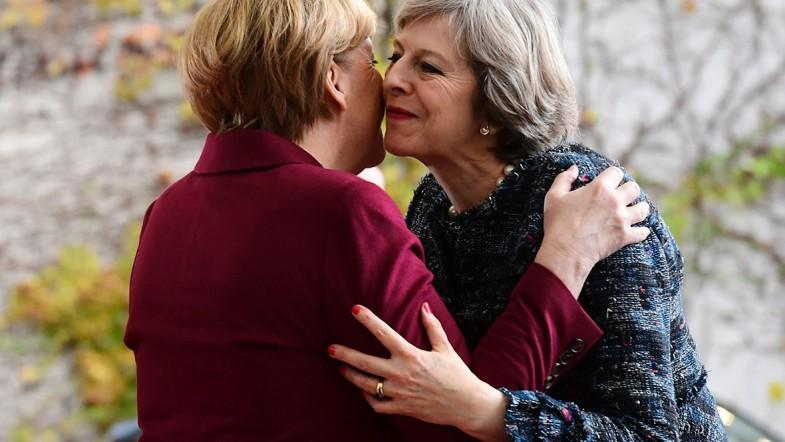 Theresa May and Angela Merkel meet for bilateral talks