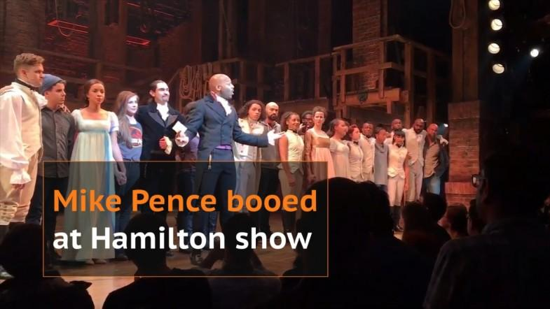 Vice president-elect Mike Pence booed at Hamilton show; actors ask him to uphold American values