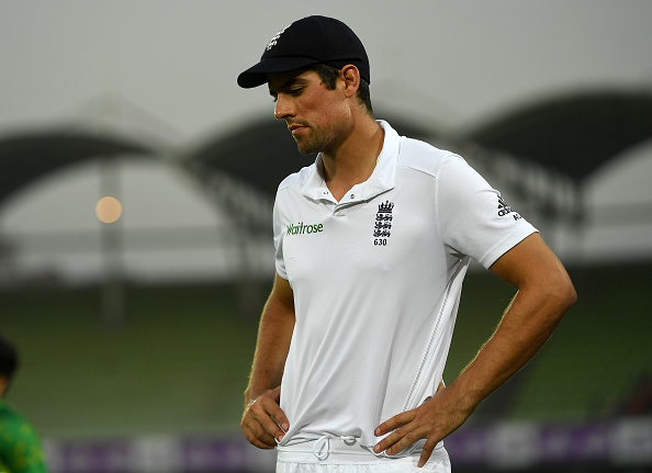 England captain Alastair Cook says batting collapse against India cost us the game