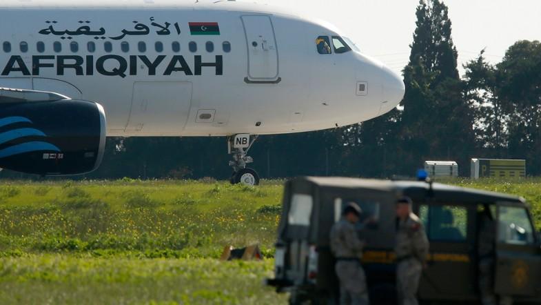 Passenger plane reportedly hijacked over Libya lands in Malta