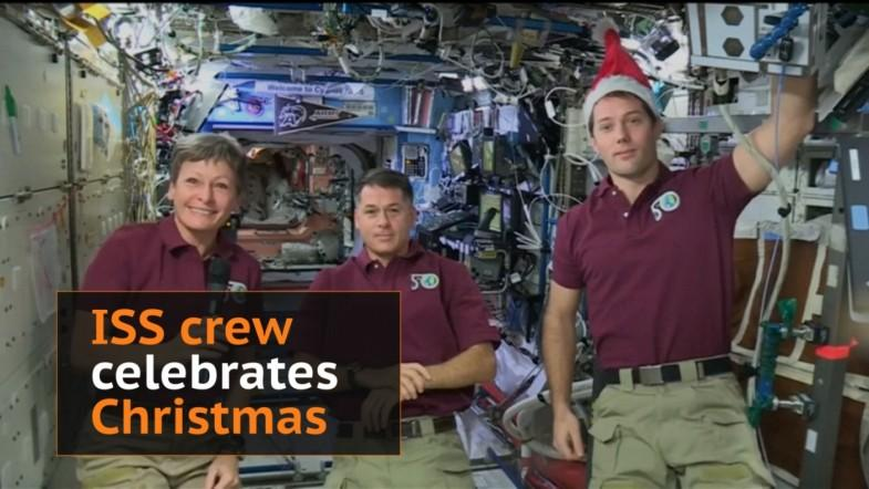 This is how the ISS crew celebrate Christmas in Space