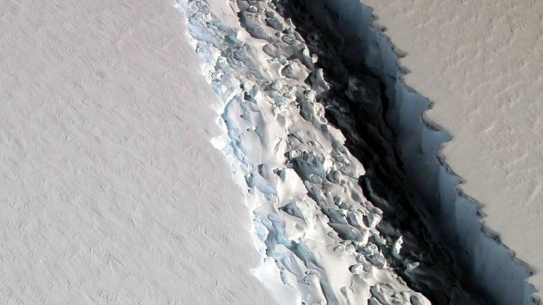 One of the worlds biggest icebergs is about to break away from Antarctica