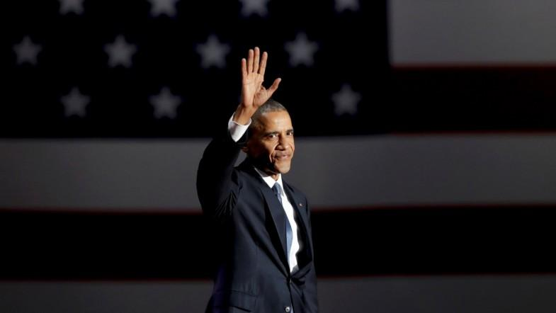 Outgoing US president Barack Obama urges Americans to still believe