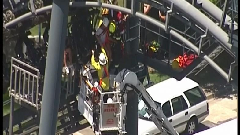 20 people rescued after being trapped in Australian rollercoaster malfunction