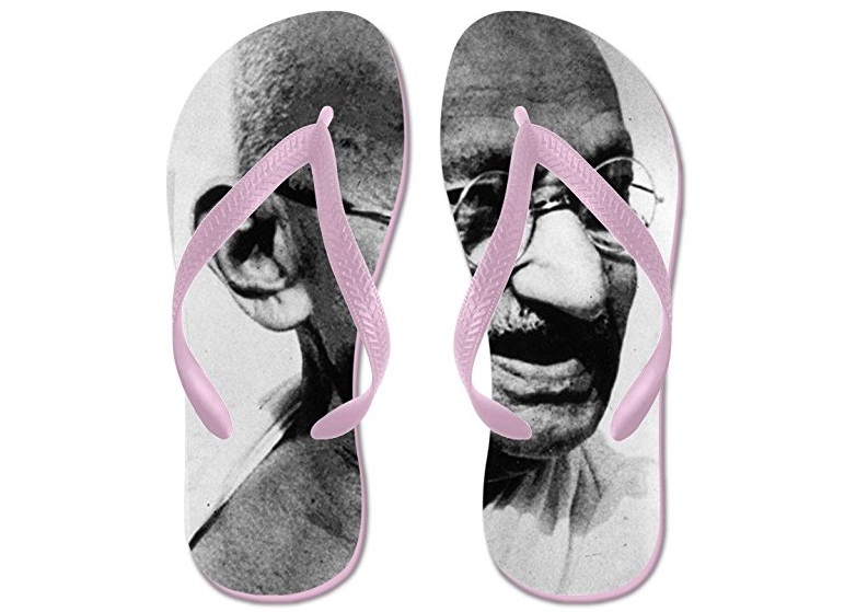 Amazon Sells Sandals Imprinted With Mahatma Gandhi S Face