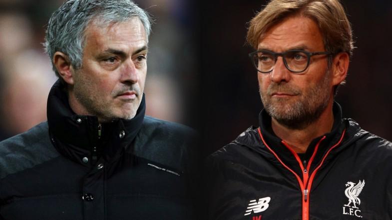Jose Mourinho and Jurgen Klopp frustrated with Man Utd vs Liverpool draw