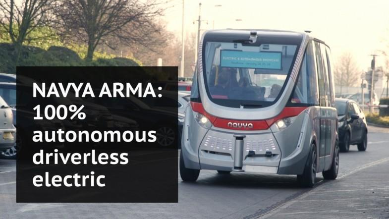 Navya driverless bus makes UK debut at Heathrow Airport