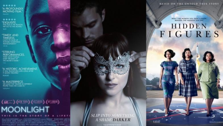 February film preview: Fifty Shades Darker, Moonlight and Hidden Figures