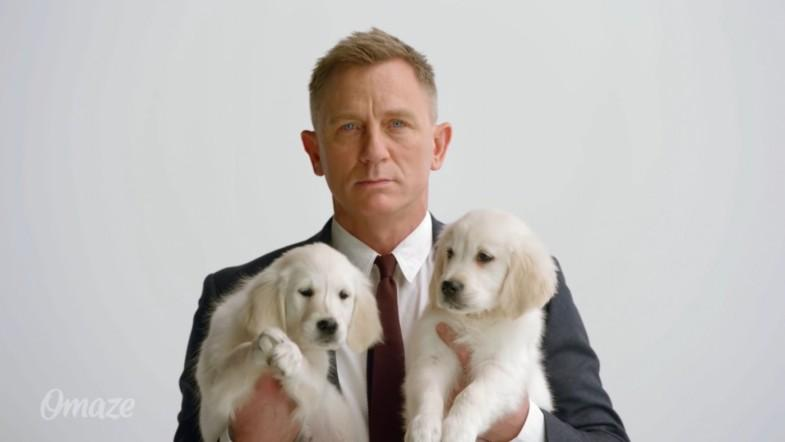 James Bond, puppies and an Aston Martin: Daniel Craig appears in latest Omaze campaign