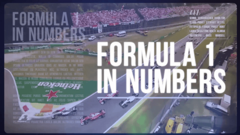 Formula 1 in numbers