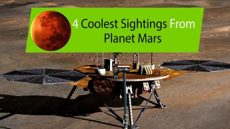 Four coolest sightings from the planet Mars