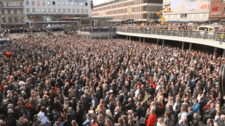 Thousands gather in Stockholm to pay tribute to truck terror attack victims