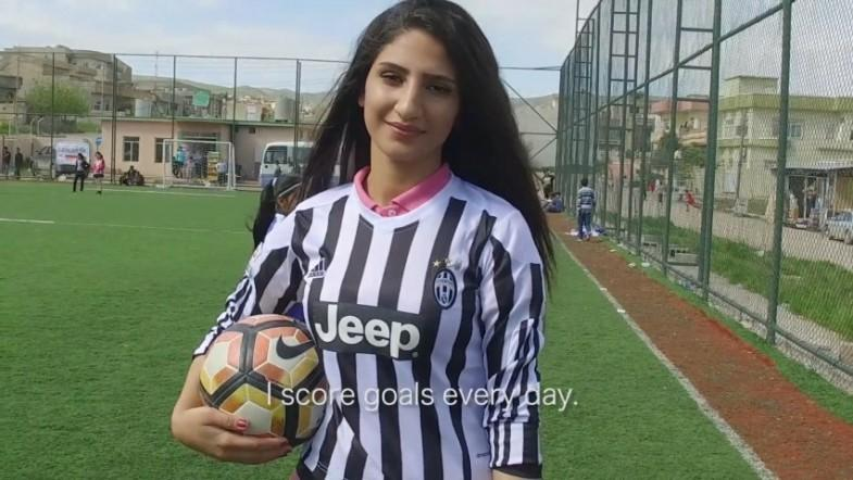 Mosul girls who fled Islamic State find confidence with football: Its not just for men