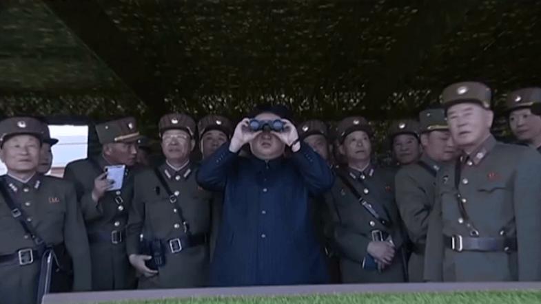 North Koreas Kim Jong-un oversees live-fire drills in Wonsan