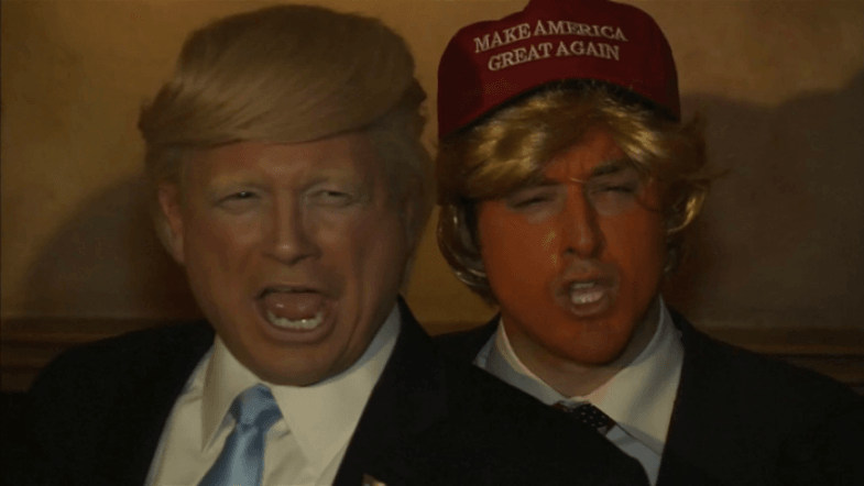 Hilarious Donald Trump impersonators play to win at comedy club