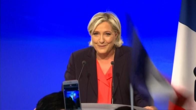 Marine Le Pen dances off election defeat