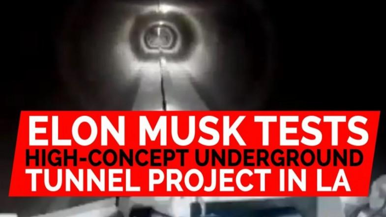 Elon Musk tests high-concept underground tunnel project in LA