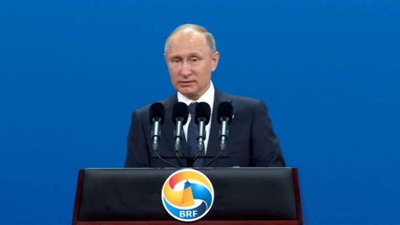 Putin criticises protectionism and sanctions at Eurasian Belt and Road summit