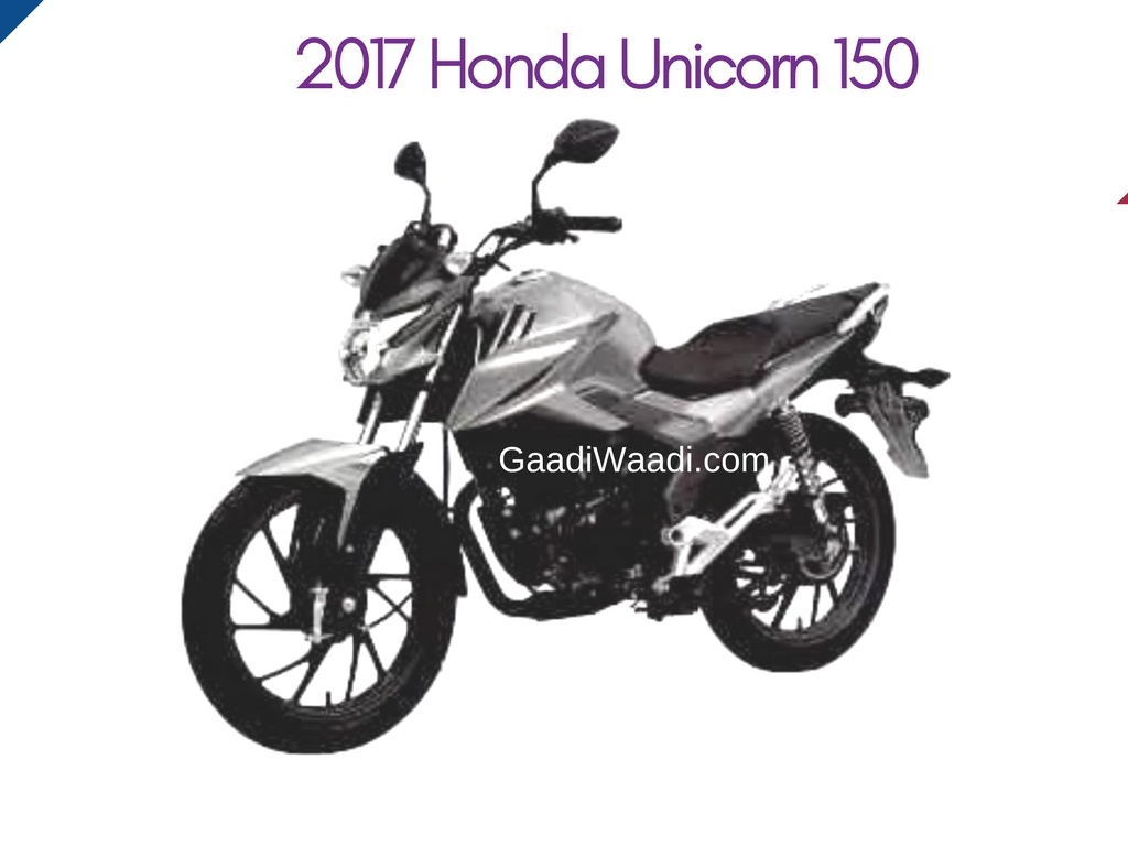 2017 honda unicorn 150 patent image leaked  bike gets a sharper design