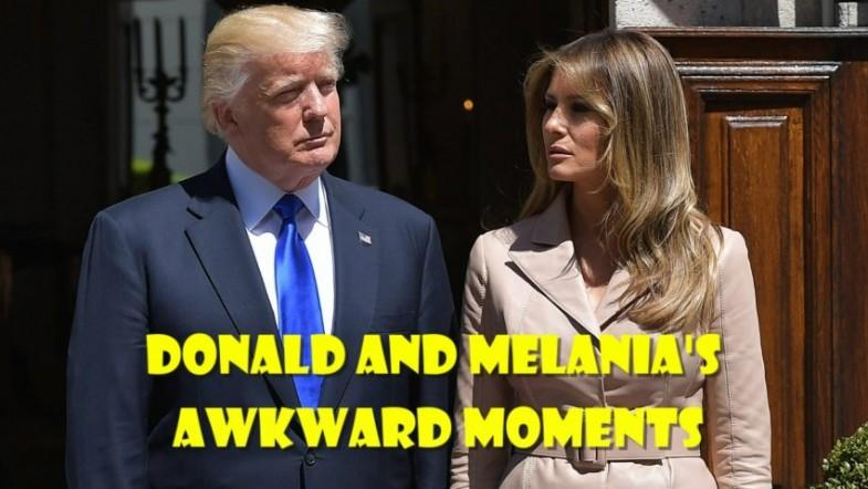 Watch Donald and Melanias awkward moments