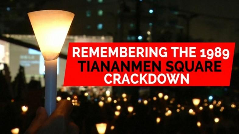 Candlelight vigil in Hong Kong commemorates 1989 Tiananmen Square crackdown