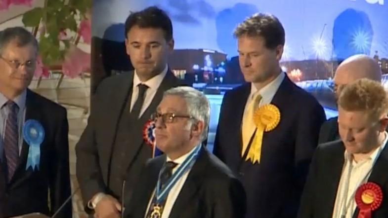 Watch moment Nick Clegg is ousted in Sheffield Hallam