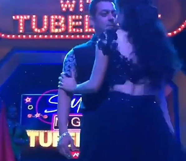 Mouni Roy suffers oops moment as she almost locks lips with