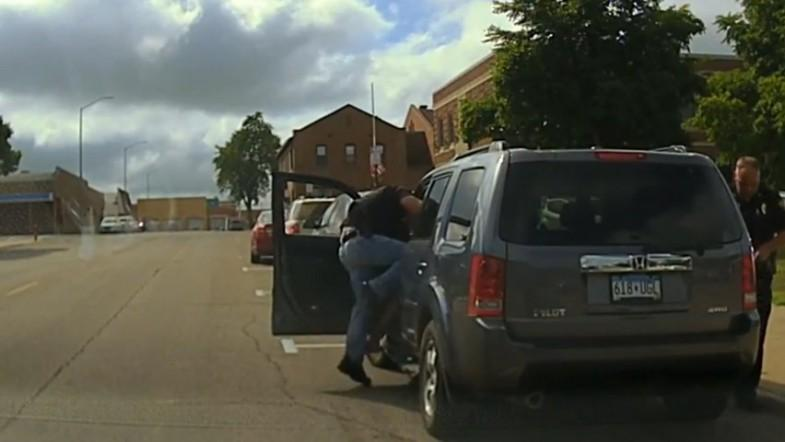 Dashcam footage released shows police officer assaulting motorist