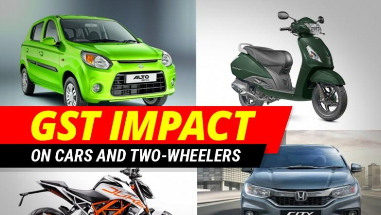 GST effect on cars and two-wheelers