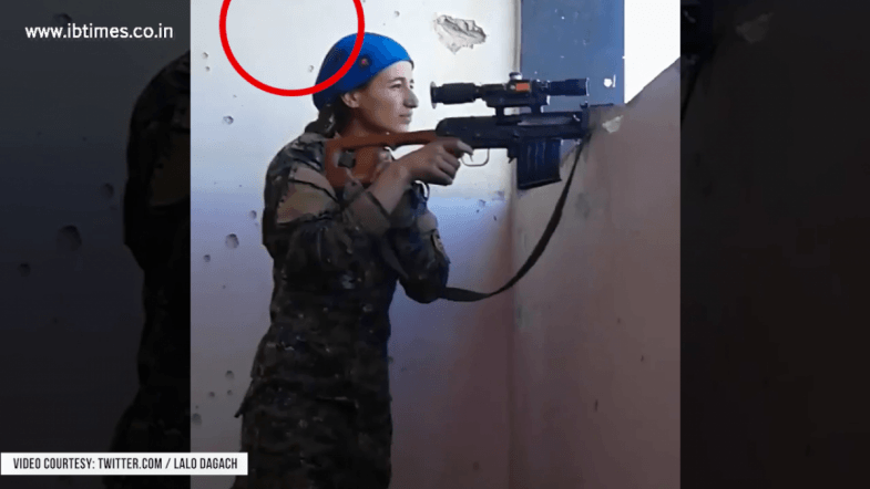 Sniper-Wars: This Kurdish YPJ Sniper was almost hit by an ISIS Sniper