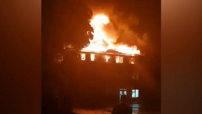 Fire destroys Weybridge Health Centre in Surrey