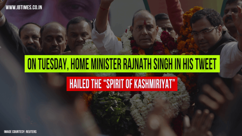 Rajnath Singh gives befitting reply to the nationalist troll