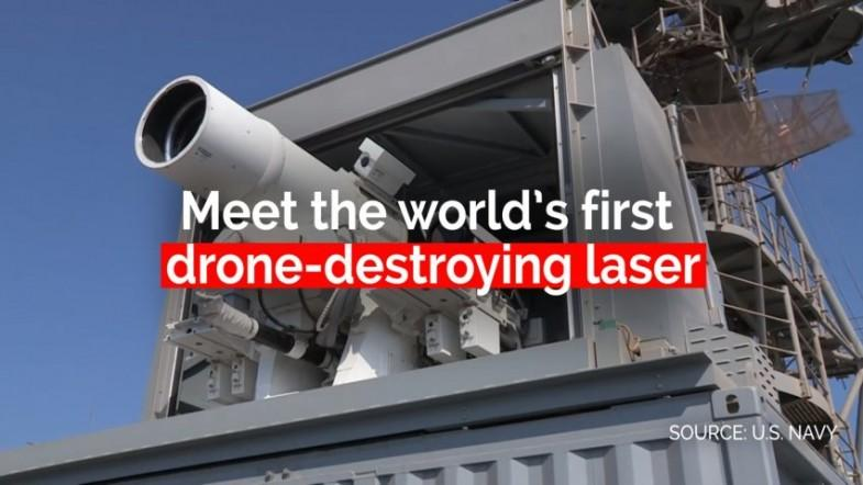 US Navy tests worlds first drone-destroying laser