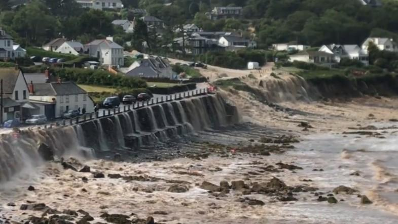 Two airlifted to safety as cascading floods hit Coverack in Cornwall after thunderstorm
