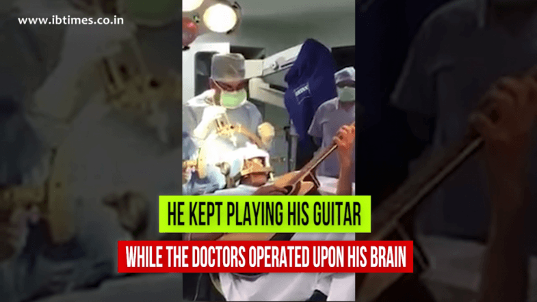 The man who played guitar while doctors operate upon his brain