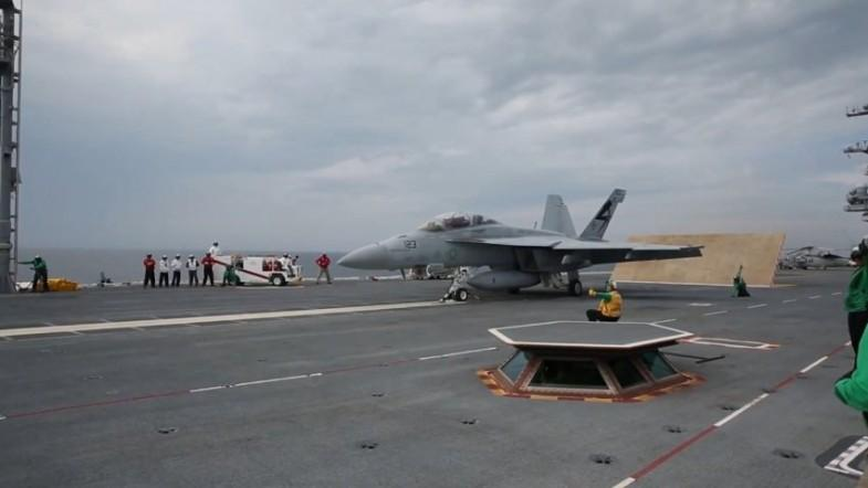 Watch US Navy launch fighter jet using worlds first electromagnetic catapult