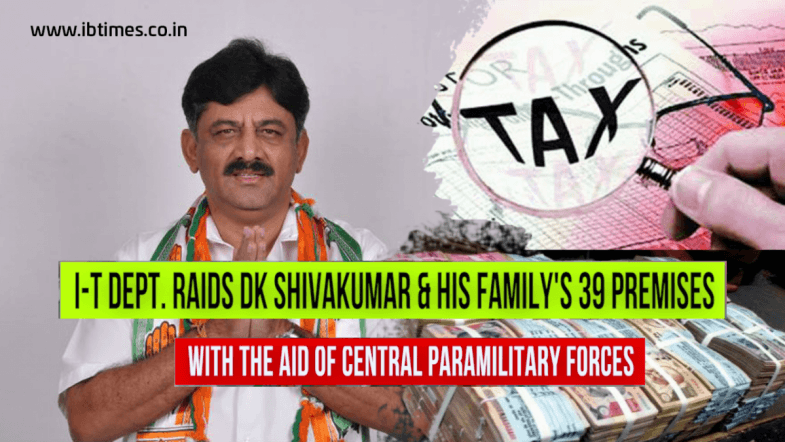 I-T officials raid Karnataka minister DK Shivakumar