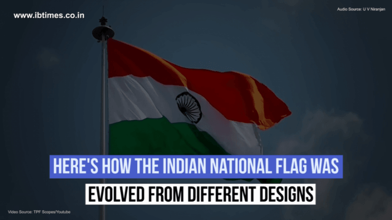 Indian National flag evolved from different designs