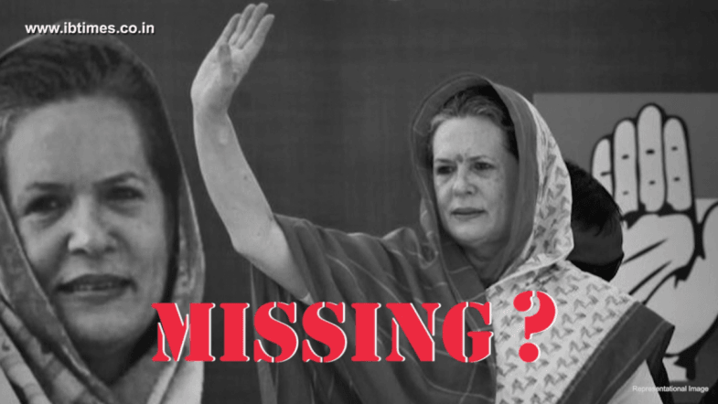 After Rahul, missing posters of Sonia Gandhi surface